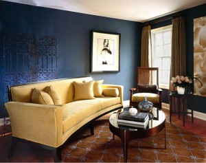 best-interior-paint-with-dark-blue-living-room-cream-puffy-sofa-white-desk-lamp-blue-wall-blue-curtain-brown-carpet-black-design-color-ideas