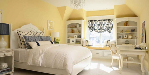 yellow walls mood one room challenge bold graphic glam