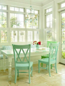 pastel-breakfast-nook-mint-green-chairs-spring-2012-interior-design